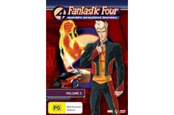 Fantastic Four World's Greatest Heroes : Vol 3 - -DVD Series Animated New