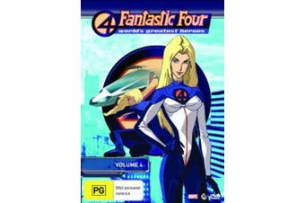 Fantastic Four World's Greatest Heroes : Vol 4 -DVD Series Animated New