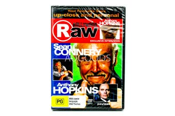 Hohllywood Raw- Sean Connnery & Anthony Hopkins -Educational DVD Series New