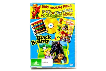 BLACK BEAUTY KIDS ACTIVITY PACK includes CRAYONS AND COLOURING BOOK