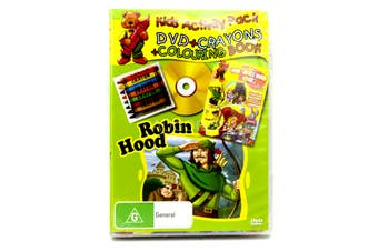 ROBIN HOOD Kid's ChildrenACTIVITY PACK: CRAYONS AND COLOURING BOOK