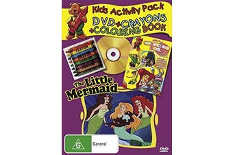 THE LITTLE MERMAID Kid's ChildrenACTIVITY PACK CRAYONS COLOURING BOOK Box set