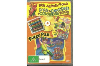 PETER PAN - KIDS ACTIVITY PACK CRAYONS COLOURING BOOK -Kids Region All DVD NEW