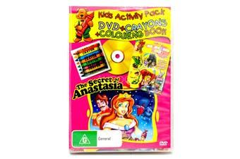 THE SECRET OF ANASTASIA - KIDS ACTIVITY PACK- CRAYONS COLOURING BOOK