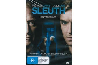 Sleuth Thriller / Drama Michael Caine Jude Law - Rare DVD Aus Stock New