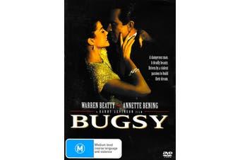 BUGSY WARREN BEATTY - Rare DVD Aus Stock New Region 4