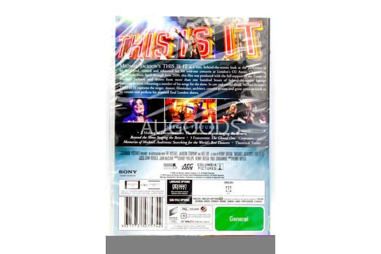 Michael Jackson - This Is It -Rare DVD Aus Stock -Music New