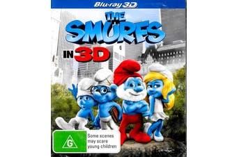 THE SMURFS - IN 3D -Rare Blu-Ray Aus Stock -Family New Region B