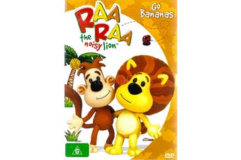 RAARAA THE NOISY LION: GO BANANAS -Kids DVD Rare Aus Stock New