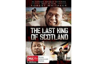 The Last King Of Scotland Region 4 - Rare DVD Aus Stock New