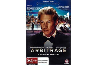 ARBITRAGE - Rare DVD Aus Stock New