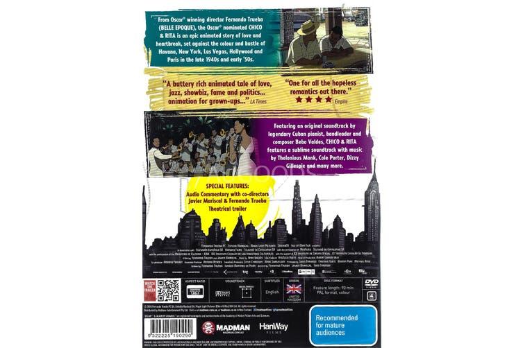 CHICO & RITA -Rare DVD Aus Stock Animated New Region 4
