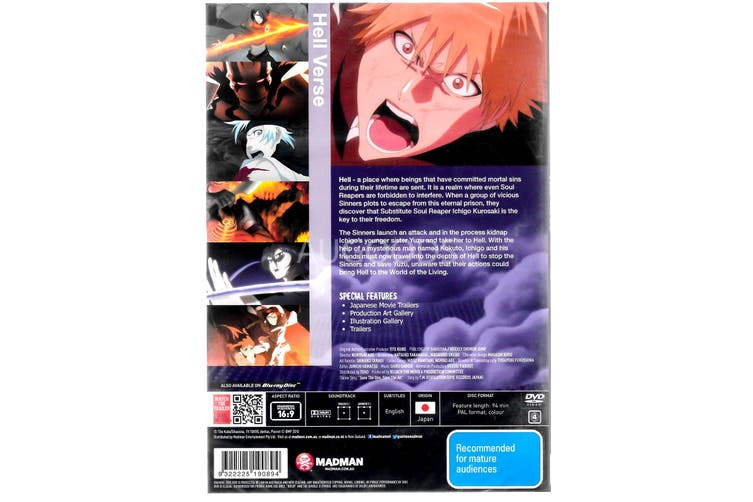 Bleach The Movie 4 - Hell Verse - Rare DVD Aus Stock New Region 4