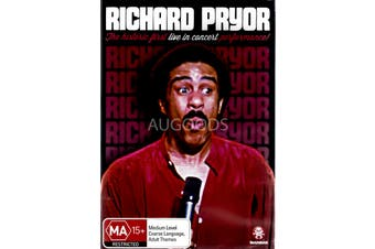 RICHARD PRYOR: LIVE IN CONCERT -Rare DVD Aus Stock Comedy New Region 4