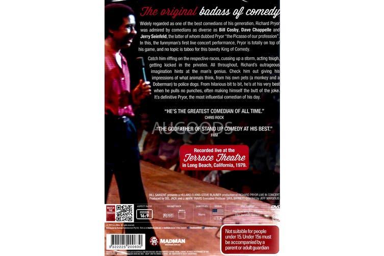 RICHARD PRYOR: LIVE IN CONCERT -Rare DVD Aus Stock Comedy New Region 4
