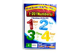 Fun Learning For Kids - Numbers 1-20 -Kids DVD Series Rare Aus Stock New