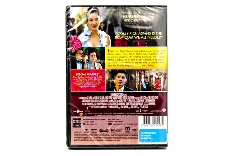 Crazy Rich Asians -Comedy Rare- Aus Stock DVD NEW