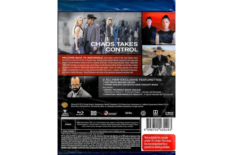 Westworld: Season 2 - The Door - Blu-Ray Series Rare Aus Stock New Region B