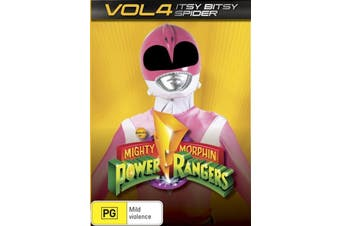Mighty Morphin Power Rangers Vol 4 - Itsy Bitsy Spider -DVD Series -Family New