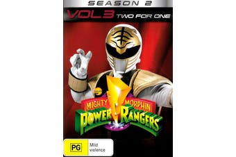 Mighty Morphin' Power Rangers Two for One Season 2 Volume 3 Region 4