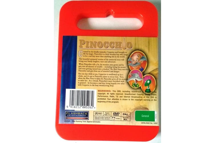 Pinocchio Kid's ChildrenG rated Cartoon Animation Classic -Kids DVD NEW