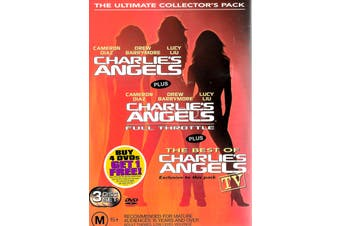 Charlie's Angels 3 Disc Set - Rare DVD Aus Stock PREOWNED: DISC LIKE NEW