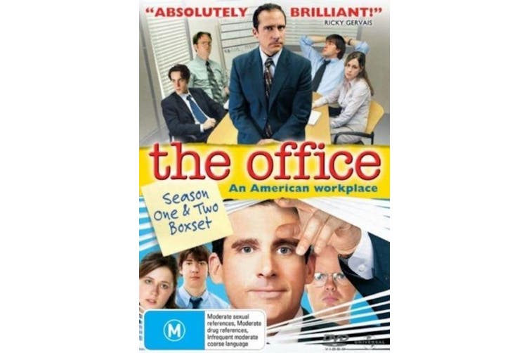 The Office Season 1 & 2 -DVD Comedy Series Rare Aus Stock Preowned: Excellent Condition