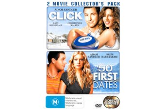 Click + 50 First Dates -Rare DVD Aus Stock Comedy Preowned: Excellent Condition