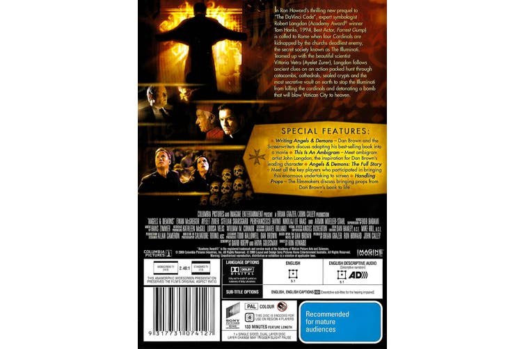 Angels & Demons Theatrical Edition - Rare DVD Aus Stock Preowned: Excellent Condition