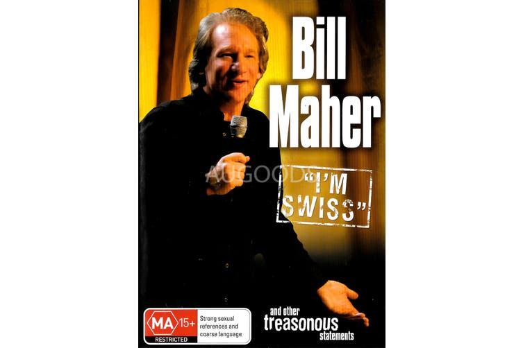 "Bill Maher ""I'm Swiss"" -Comedy Series Region 4 Rare- Aus Stock Preowned DVD Excellent Condition"