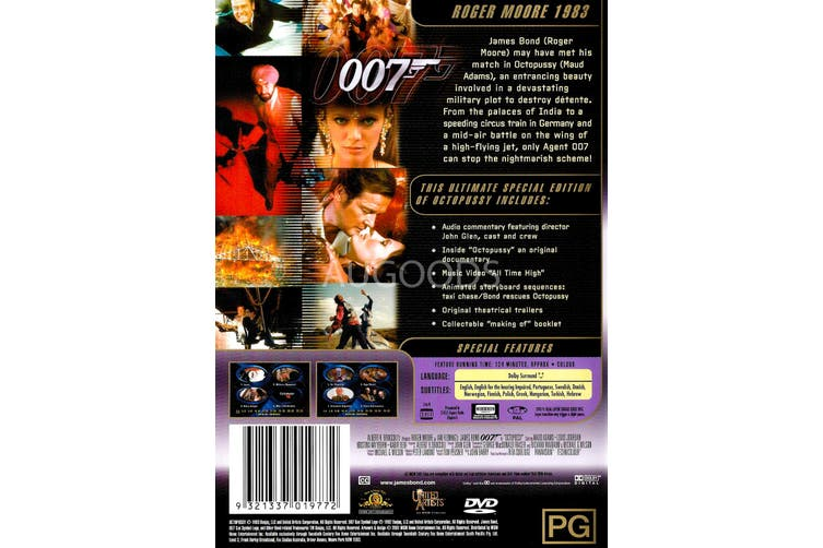 Octopussy - Region 4 Rare- Aus Stock DVD Preowned: Excellent Condition
