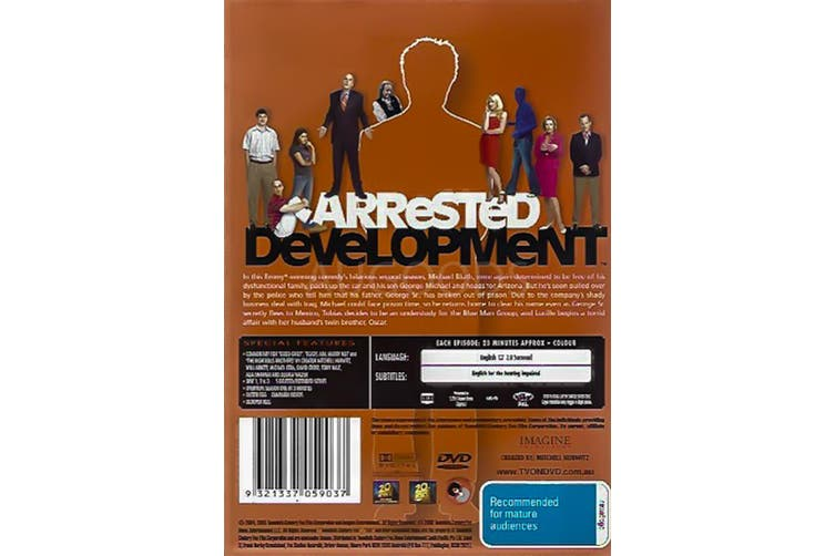 ARRESTED DEVELOPMENT - Rare DVD Aus Stock Preowned: Excellent Condition