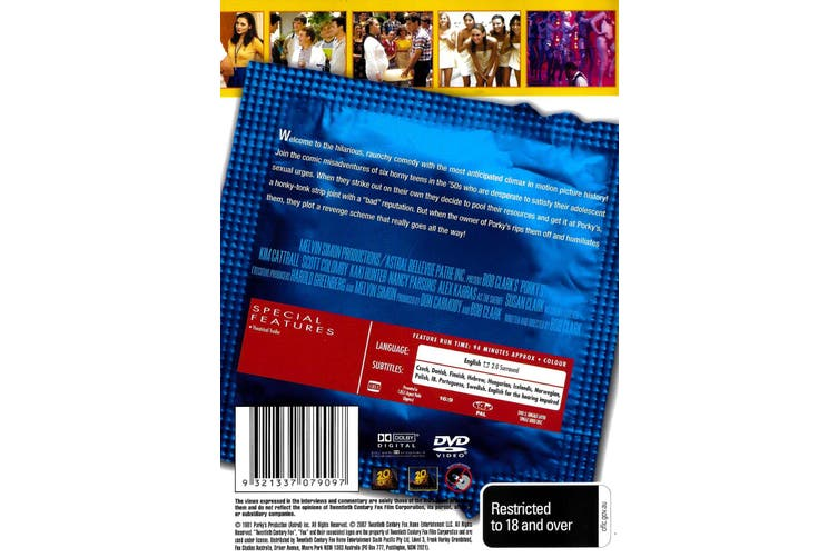 Porky's - The One Size Fits All Edition -Rare Preowned DVD Excellent Condition Aus Stock Comedy