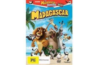 Madagascar -Kids DVD Rare Aus Stock Preowned: Excellent Condition