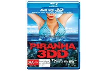 Piranha 3DD 3D Digital Copy -Rare Blu-Ray Aus Stock Comedy Preowned: Excellent Condition