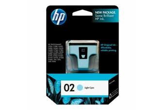 HP 02 L-CYAN INK CARTRIDGE - NEW - GENUINE
