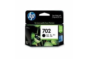 HP 702 BLACK INK CARTRIDGE - NEW - GENUINE