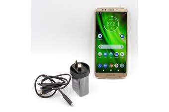 MOTOROLA MOTO G6 PLAY 32GB Gold XT1922- Unlocked (DUAL SIM) -Pre-Owned: Good Condition