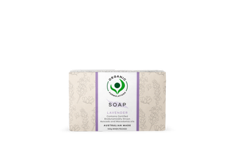 Organic Formulations Lavender Soap 100gm | Certified Organic, Australian Made