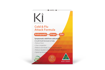 Ki Cold & Flu Attack - 30 Tabs - Traditional Chinese Medicine