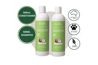 Biologika Organic Coconut Shampoo/Conditioner Bundle Pack 500ML - All Hair Types