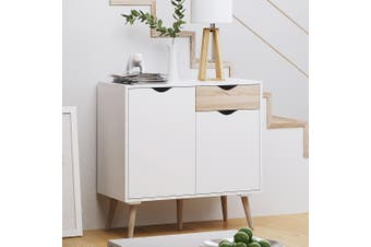 White Buffet Sideboard Hallway Entrance Table Storage Cabinet Cupboard Shelves