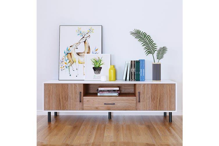 Oak TV Stand 120cm Entertainment Unit Storage Cabinet Unit Cupboard Shelf New