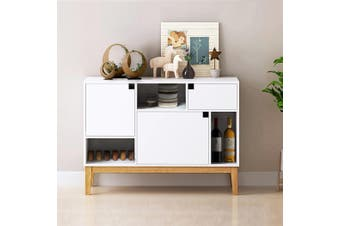 Buffet Sideboard White Storage Cabient Hallway Entrance Table Cupboard 3 Doors