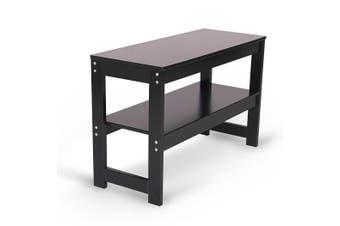 Shoe Rack 2 Tier Layer Storage Orgainser Bench Brown Shelf Holder Stand