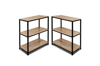 2pc 3-Tier Display Bookshelf Open Shelving Book Rack Bookcase Storage Organizer