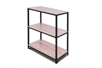 3-Tier Display Bookshelf Open Shelving Book Rack Bookcase Storage Organizer Oak
