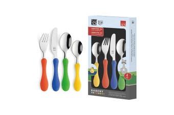Babeny 4pc Kids Cutlery Set Stainless Steel Spoon Fork Knife Chidren