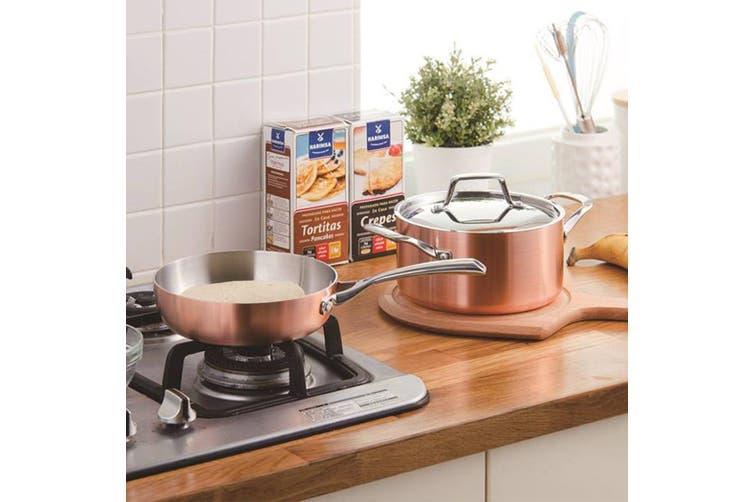 Lassani Tri-Ply  Copper 14cm  Saucepan Butter Warmer Pot Sauce Pan Cookware