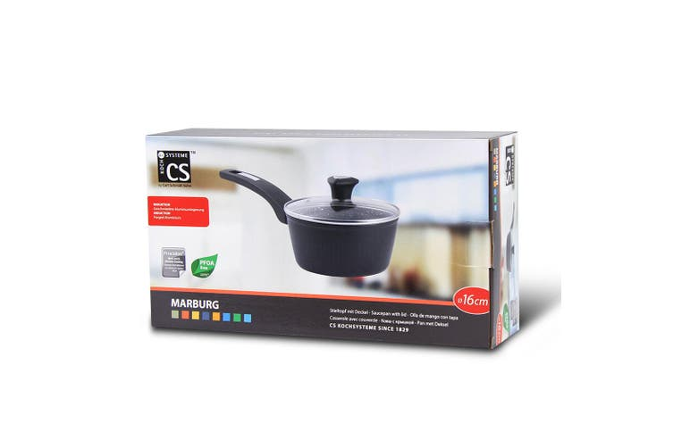 Marburg Non-Stick Insulated saucepan w/ Lid Induction Stock Pot Cookware